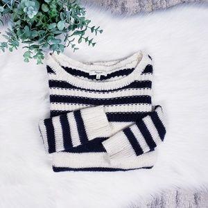 Madewell navy/cream striped sweater